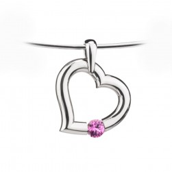 Kretchmer Platinum Heart Shape Tension Set Pendant