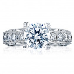HT2530A Platinum Tacori Classic Crescent Engagement Ring