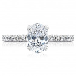 HT2545OV8X6 Platinum Tacori Petite Crescent Engagement Ring