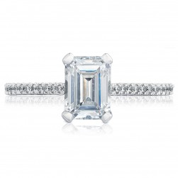 HT254615EC75X55 Platinum Tacori Petite Crescent Engagement Ring