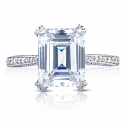 HT2627EC10X8 Platinum Tacori RoyalT Engagement Ring