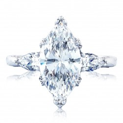 HT2628MQ15X75 Platinum Tacori RoyalT Engagement Ring