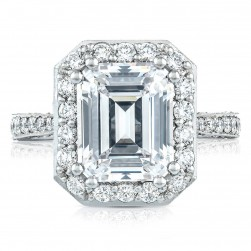 HT2650EC105X85 Platinum Tacori RoyalT Engagement Ring