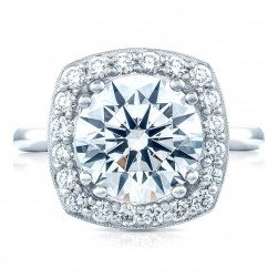 HT2651CU10 Platinum Tacori RoyalT Engagement Ring