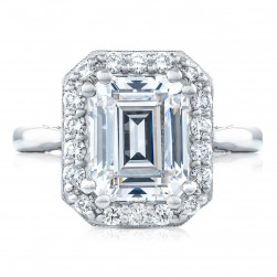 HT2651EC10X8 Platinum Tacori RoyalT Engagement Ring