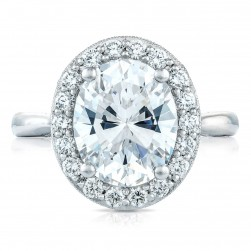 HT2651OV11X9 Platinum Tacori RoyalT Engagement Ring
