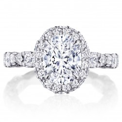 HT2653OV9X7 Platinum Tacori RoyalT Engagement Ring