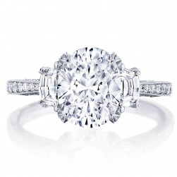 HT2655OV95X75 Platinum Tacori RoyalT Engagement Ring