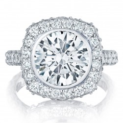Tacori HT26142RD10 18 Karat RoyalT Engagement Ring