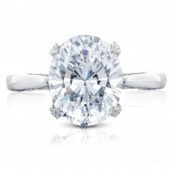 Tacori HT2625OV11X9 18 Karat RoyalT Engagement Ring