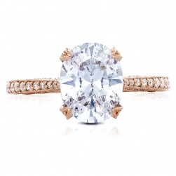 Tacori HT2627OV95x75PK 18 Karat RoyalT Engagement Ring