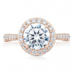Tacori HT2650RD8PK 18 Karat RoyalT Engagement Ring
