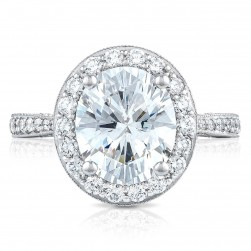 Tacori HT2652OV10X85 18 Karat RoyalT Engagement Ring