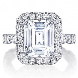 Tacori HT2653EC105X85 18 Karat RoyalT Engagement Ring