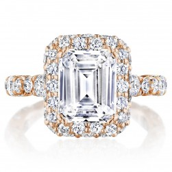 Tacori HT2653EC95X75PK 18 Karat RoyalT Engagement Ring