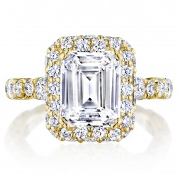 Tacori HT2653EC95X75Y 18 Karat RoyalT Engagement Ring