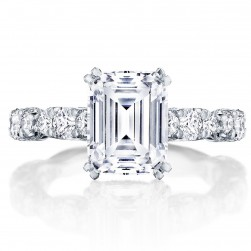 Tacori HT2654EC9X7 18 Karat RoyalT Engagement Ring