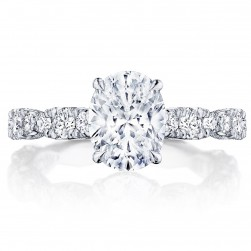 Tacori HT2654OV9X7 18 Karat RoyalT Engagement Ring