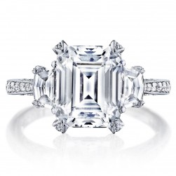 Tacori HT2656EC10X8 18 Karat RoyalT Engagement Ring