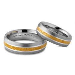 Kretchmer Polarium/24K Gold Kissing Bands