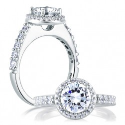 A Jaffe 14 Karat Diamond Engagement Ring ME1459