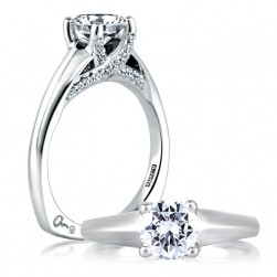 A Jaffe 14 Karat Signature Engagement Ring MES144