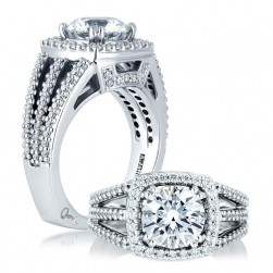 A Jaffe 14 Karat Signature Engagement Ring MES256