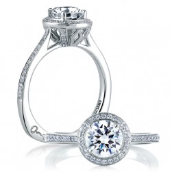 A Jaffe 14 Karat Signature Engagement Ring MES332