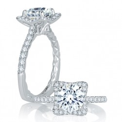A.JAFFE 14 Karat Signature Engagement Ring MES750Q
