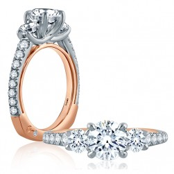 A.JAFFE 14 Karat Signature Engagement Ring MES850