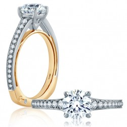 A.JAFFE 14 Karat Signature Engagement Ring MES853