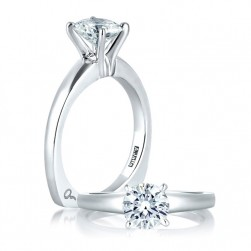 A Jaffe 14 Karat Solitaire Engagement Ring MES032