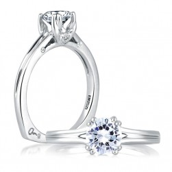 A Jaffe 14 Karat Solitaire Engagement Ring MES143