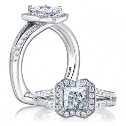 A Jaffe 18 Karat Signature Engagement Ring MES412