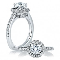 A Jaffe 18 Karat Signature Engagement Ring MES437