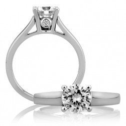 A Jaffe Platinum Classic Engagement Ring ME1243 / 04