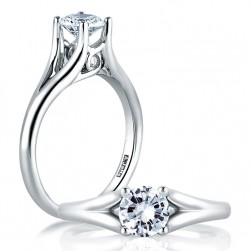 A Jaffe Platinum Classic Engagement Ring ME1368
