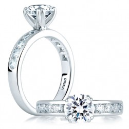 A Jaffe Platinum Classic Engagement Ring ME1451