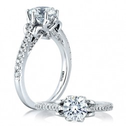 A Jaffe Platinum Classic Engagement Ring ME1556