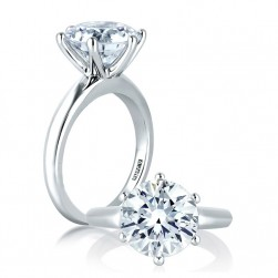 A Jaffe Platinum Classic Engagement Ring ME1560