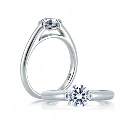 A Jaffe Platinum Classic Engagement Ring ME1563