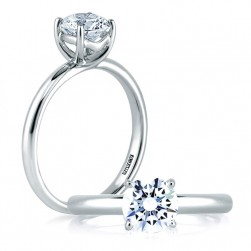 A Jaffe Platinum Classic Engagement Ring ME1564