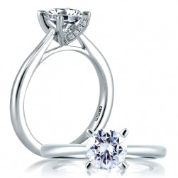 A Jaffe Platinum Classic Engagement Ring ME1585