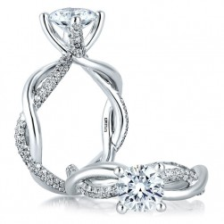 A Jaffe Platinum Classic Engagement Ring ME1637
