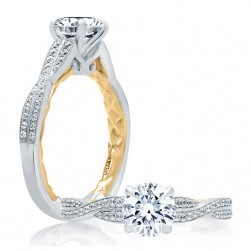 A.JAFFE Platinum Classic Engagement Ring ME2031Q