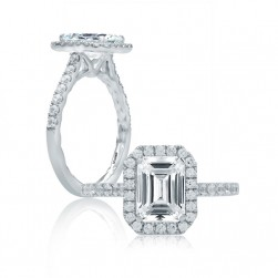 A.JAFFE Platinum Classic Engagement Ring ME2051Q