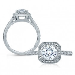A.JAFFE Platinum Classic Engagement Ring ME2101Q