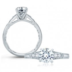 A.JAFFE Platinum Classic Engagement Ring ME2104Q