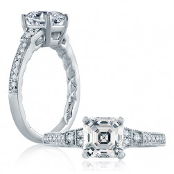 A.JAFFE Platinum Classic Engagement Ring ME2105Q