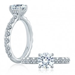 A.JAFFE Platinum Classic Engagement Ring ME2125Q